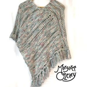 Margaret O'Leary Wool Mix Poncho Sweater